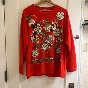 Vintage Kitty Cat Christmas Sweatshirt